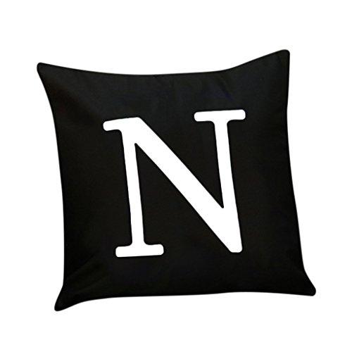(Kissenbezug Vovotrade Flashing Alphabet Beleuchtung LED Kissenbezug Home Decor Sofa Throw Kissenbezug (N))