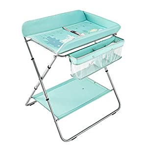 Multifunctional Dresser Table,Foldable Nursery Organizer And Baby Diaper Table Liners,Mobile Baby Changing Station With Storage Rack For Infant   14