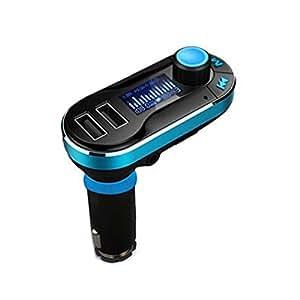 COOSA Trasmettitore Bluetooth FM per veicoli Supporta lettore musicale con 2 porte di ricarica USB, microfono incorporato, lettura tessere + ingresso AUX, controllo musicale e altoparlante per telefoni cellulari iPhone6 / 6plus / 6S / 6S Plus / 5s / 5c Samsung Tablet ET , Altri dispositivi Bluetooth