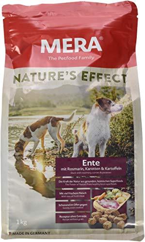 Mera nature' s effect getreidefreies cani mangime premium, crocchette per cani con anatra rosmarino carote patate, 1er pack (1x 1kg)