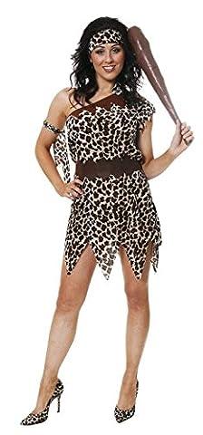 Mesdames Cave Fille Les femmes imprimé léopard préhistorique costume U36219