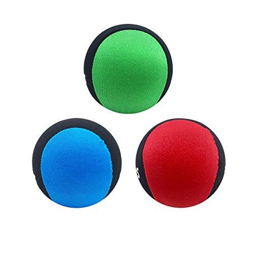 Silfrae Water Jumping Ball Surf Ball Wasser Sprungball Gel Ball, Red&Green&Blue