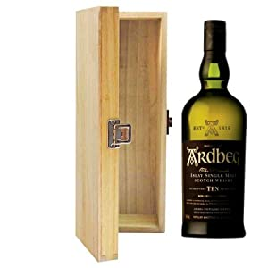 700ml Ardbeg 10 YO Whisky in Hinged Wooden Gift Box from Ardbeg