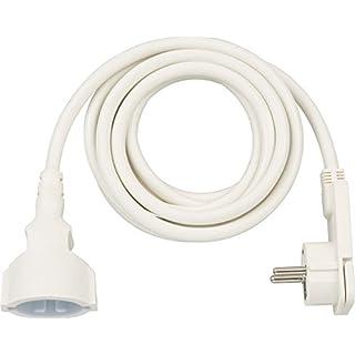 Brennenstuhl Qualitäts-Kunststoff-Verlängerungskabel mit Flachstecker (Verlängerungskabel flach für innen mit 3m Kabel) weiß