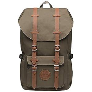 KAUKKO Laptop Rucksack Damen Herren Studenten Backpack für 15″ Notebook Daypacks (Schwarz-ACB)