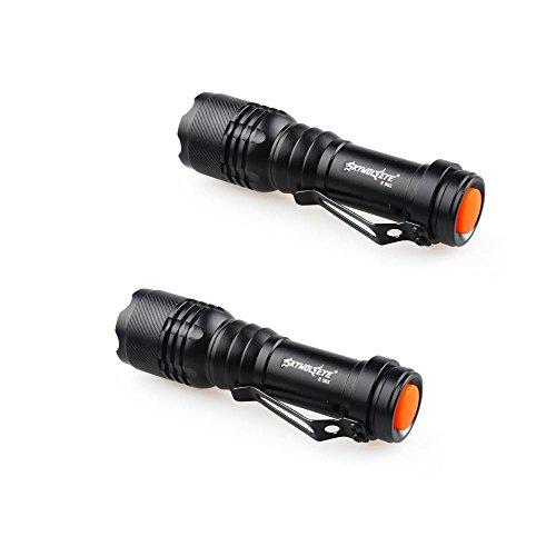 Preisvergleich Produktbild happytop Taschenlampe, 3Modi Zoomable LED Taschenlampe Q5AA/14500Schlüsselanhänger Mini Taschenlampe (2Pack)