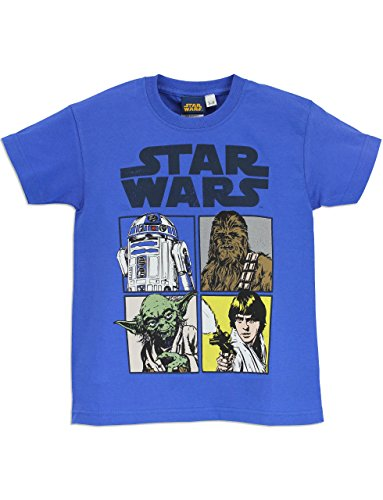 Star Wars Boys Star Wars Short Sleeve T-shirt Ages 3 to 12 Years