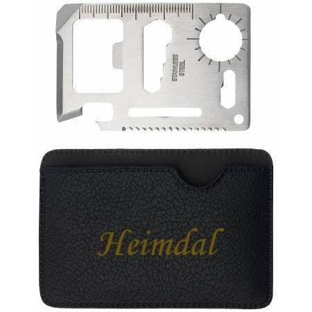 Preisvergleich Produktbild Mehrzweckwerkzeug mit gravierten Halter mit Namen: Heimdal (Vorname/Zuname/Spitzname)