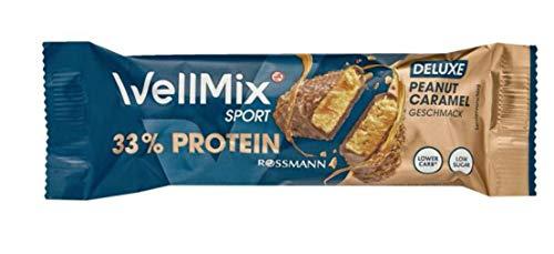 WellMix Sport Riegel Deluxe Peanut mit 33{d93ad23cdca6f8d54762e89bb28e0ea800795abaca626636557d9c2cb01d6b19} Protein, 10er Pack (10 x 45g)