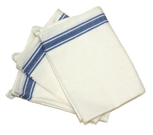 Tante Martha's Geschirrtücher, 45,7 x 71 cm, Vintage-Stil, gestreift, 3 Stück blau gestreift