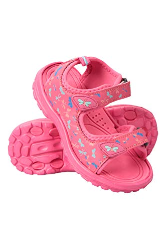 Mountain Warehouse Sand Girls Sandals - Neoprene Kids Beach Shoes, Durable Outsole Summer Shoes, Hook & Loop, Childrens Shoes -for Travelling, Beach
