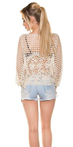Hippes Fledermaus-Shirt im Coachella-Look Beige