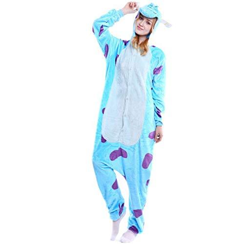 esie Pyjama Kostüm Schlafanzug Erwachsene Jumpsuit ()