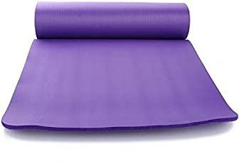 SKYBLUE Rubber Fitness Guru Anti-Tear Exercise Mat with Carry Strap (Multi-Coloured, 10mm)