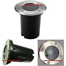 HAVA - Foco empotrable de suelo para exteriores (LED GU10, IP65, circular, acero inoxidable y cristal, hasta 1000 kg)