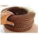 Cable Eléctrico Trenzado Marrón Vintage Look Retro en tejido