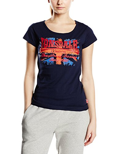 Lonsdale Westham T-Shirt, Donna, Blu (Navy), Small (Taglia Produttore: Small)