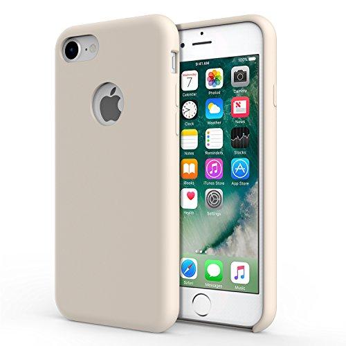 custodia silicone rosa sabbia iphone