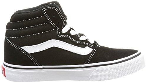 Vans Y MILTON Unisex-Kinder Hohe Sneakers Schwarz (suede Canvas/black/white)
