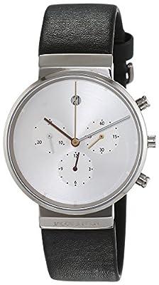 Jacob Jensen Herren-reloj analógico de pulsera de cuarzo cuero Item NO, 606 de JACOB JENSEN