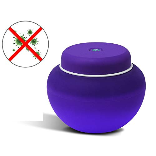 UV Sterilisator, MEROURII Tragbar LED UV Steriliser Desinfektion Gerät für Menstruationstasse Kegel Bälle Liebeskugel für Frauen Damenhygiene & Intimpflege, USB Wiederaufladbar, Violett