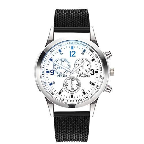 Koede Unisex Fashion Round Shape Folding Buckle Closure Quartz Wristwatch Wrist Watches