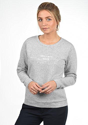 JACQUELINE de YONG by ONLY Taylor Damen Sweatshirt Pullover Sweater mit Rundhals-Ausschnitt und Stickerei aus hochwertiger Baumwollmischung, Größe:XL, Farbe:Light Grey Melange - 3