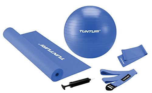 Tunturi Yoga Set para Pilates, Unisex Adulto, Azul, Talla Única