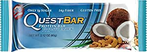 Quest Nutrition, Natural Protein Bar, Coconut Cashew, 12 Bars, 2.12 oz (60 g) Each