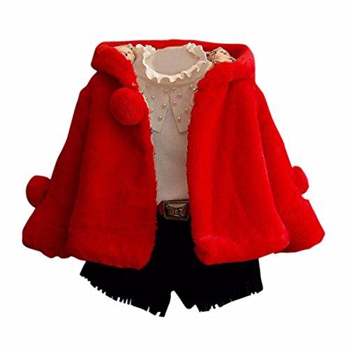 Tefamore Abrigo Suéter Outwear jersey Invierno Chaqueta Ropa para Niñas bebés (Tamaño: 6T,