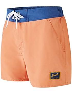 Speedo Vintage Contrast - Bañador para hombre, hombre, Vintage Contrast, naranja/azul, XL
