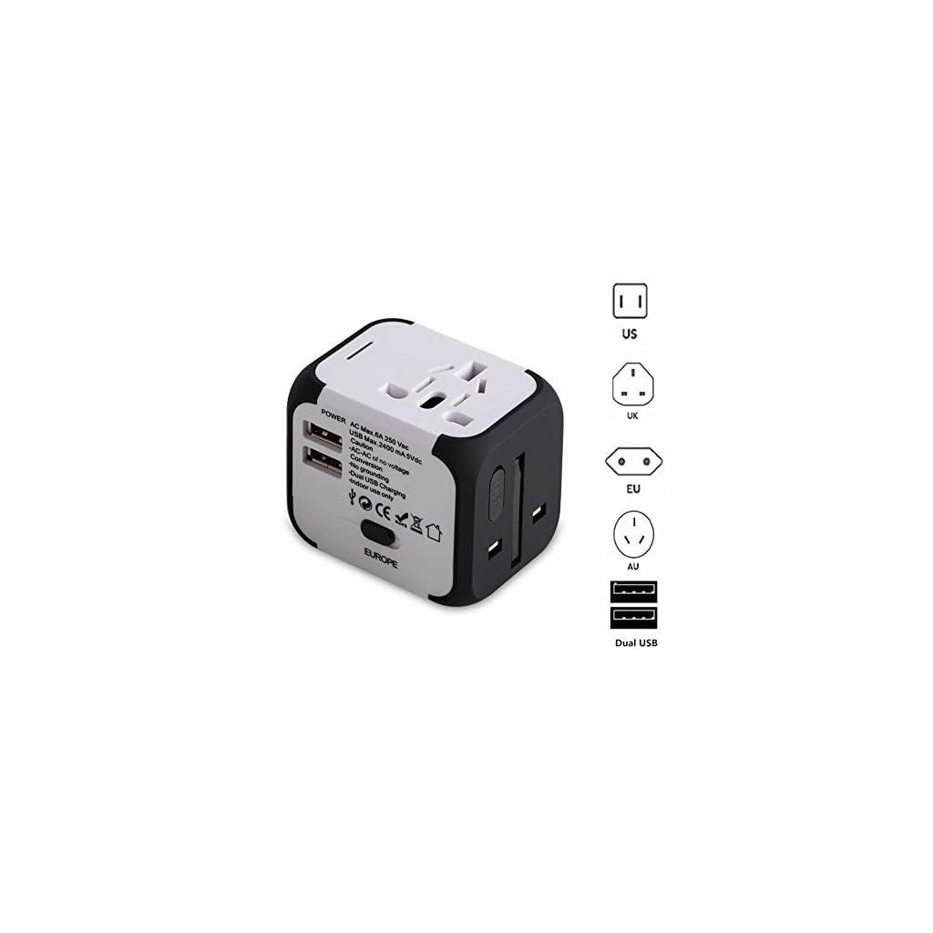 EU UK Voyage Adaptateurs pour linternational avec Double Chargeur USB US AUS Universel Prise de Courant Tout en un Multi-Nation Multi-prise adaptateur et Chargeur Adaptateurs de voyage