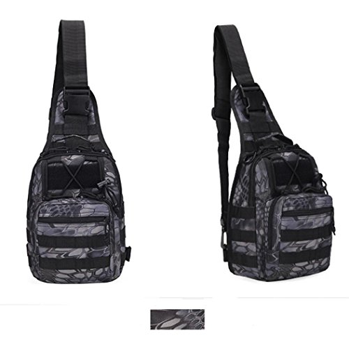 Mochila táctica militar para hombre Bolsa de hombro Bolsa de camping Saco de camuflaje de senderismo LMMVP (20cm*14cm*28cm, C)