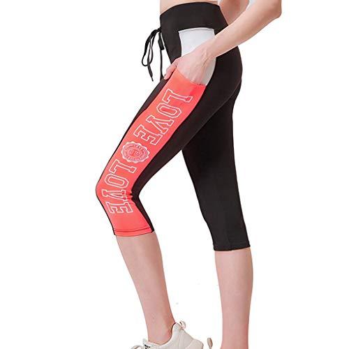 790791b47a82 Donna Yoga Pantaloni Leggins Fitness Zarupeng-Leggings da Donna Pantaloni  Sportivi da Yoga a Vita Alta Pantaloni da Allenamento a Compressione