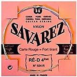 Corde au détail Savarez 524R pour guitare classique - tirant fort Ré - Carte Rouge
