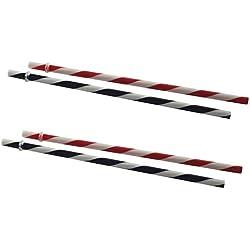 Kilner - Tarros con pajitas (22,9 cm, paquete de 4, tapas con agujero, pajitas de rayas)