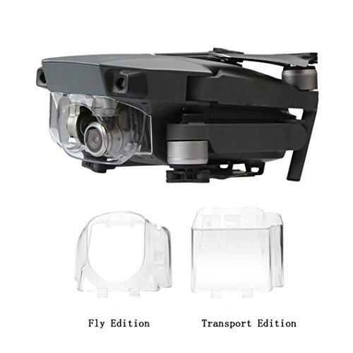 Alpha-sonnenschutz (Omiky® Art und Weise 2017 Sonnenschutz-Objektiv-Haube Glare Kardan-Kamera-Schutz-Abdeckung für DJI Mavic Pro Drone (klar))