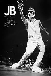 Justin Bieber Poster B&W - Poster Großformat