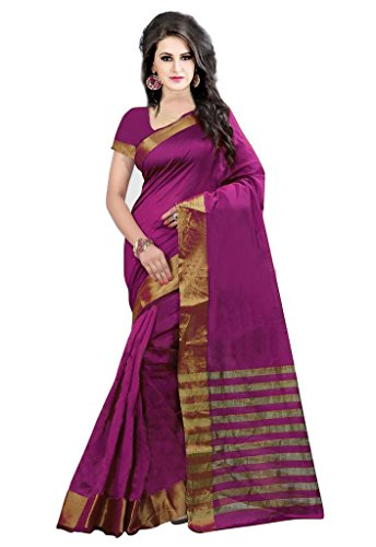 ISHIN Poly Silk Pink With Woven Zari Border Women's Saree.  available at amazon for Rs.499