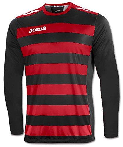 Joma 1211 99 002 T-Shirt manches longues Femme Rouge/Noir