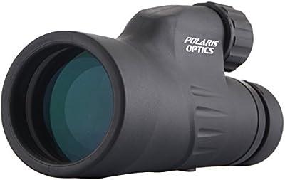 Polaris Optics Explorer - 12X50 Monocular De Alta Potencia - Gama De Visión Brillante Y Clara - Enfoque Con Una Mano - Resistente Al Agua - Resistente A La Niebla - Para La Observación De Pájaros O Fauna - Viene Con Un Trípode Para Visualización De Manos Libres