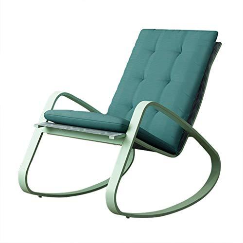 ZHEN GUO Patio Chair Outdoor Stühle mit Polsterauflage, Metall Schaukelstuhl Glider Rocker für Schlafzimmer, Pool Lounge Stühle, Recliner Stuhl für Wohnzimmer, Orbital Lounger für Erwachsene -