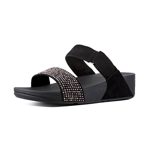Fitflop Women's Lulu Popstud Slide Open Toe Sandals