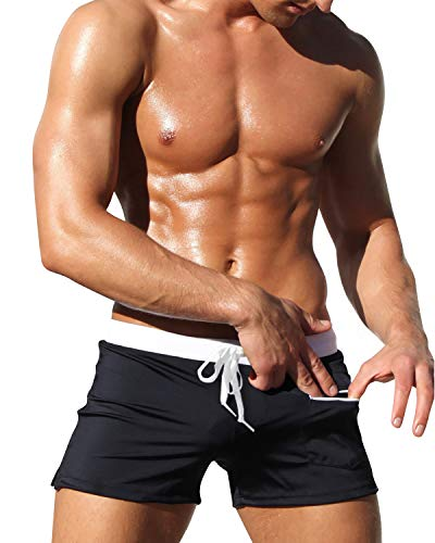 YAOMEI Bañador de Natación Boxer para Hombre, Hombre Bañador Traje de Baño Pantalones Cortos Playa...