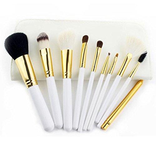 kingko® 10pcs / set New haute qualité pinceau de maquillage de laine ensembles de brosses cosmétiques (blanc)