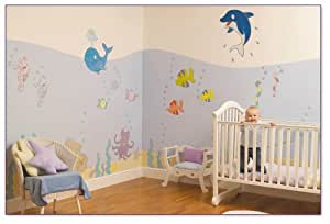Undersea Adventure Nursery and Bedroom Wall Sticker Make-Over Kit