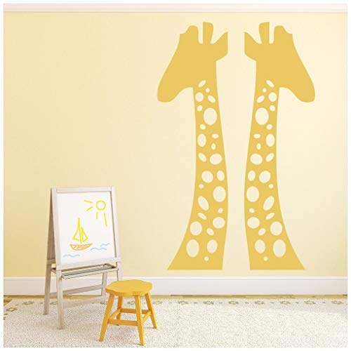 azutura Giraffen Wandtattoo Safari Tiere Wand Sticker Kindergarten Kinder Wohnkultur verfügbar in 5 Größen und 25 Farben X-Groß Licht Orange -