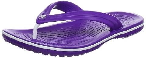 Crocs Crocband flip 11033 Unisex-Erwachsene Zehentrenner, Gr. 42/43 EU, Violett (Neon Purple/White