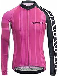 Uglyfrog Maillot Ciclismo 2018 Nuevo Mujer Invierno Deportes Al Aire Libre Thermal Fleece De Manga Larga MTB Jersey Triatlón Ropa Bicicleta Camiseta WZ03