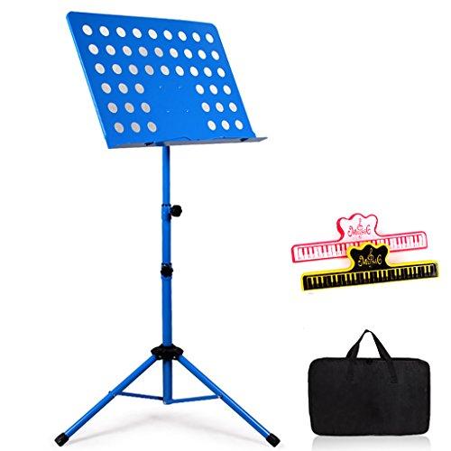 Notenständer Spectrum Regal, Faltbare Und Tragbare Musiker, Last: 5kg (Farbe : Blue, größe : with Bag) -